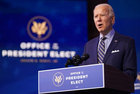 President-elect Joe Biden speaks at The Queen theater, Monday, Dec. 28, 2020, in Wilmington, Del. (AP Photo/Andrew Harnik)