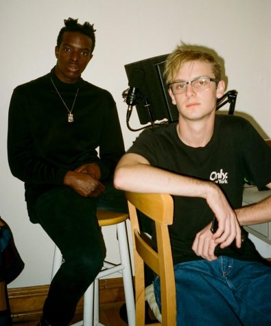 Muhamad Faal, otherwise known as Mo, (left) and Tyler Malone (right) have worked together through their time at DePaul making music.