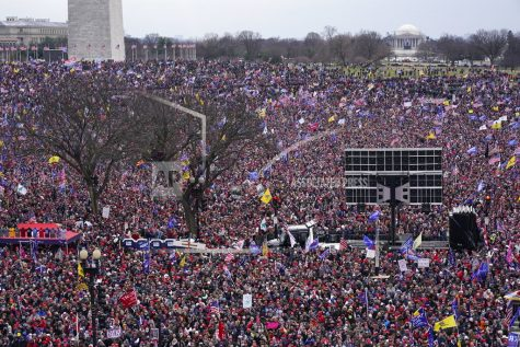 People attend a rally in support of President Donald Trump on Wednesday, Jan. 6, 2021, in Washington. (AP Photo/Jacquelyn Martin)