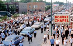 A civil rights demonstration in Chicago in support of fair housing.