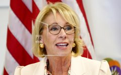 FILE - In this Oct. 15, 2020, file photo, Secretary of Education Betsy DeVos speaks at the Phoenix International Academy in Phoenix. (AP Photo/Matt York, File)