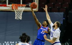 DePaul junior forward Darious Hall goes up for a layup against Seton Hall on Wednesday.