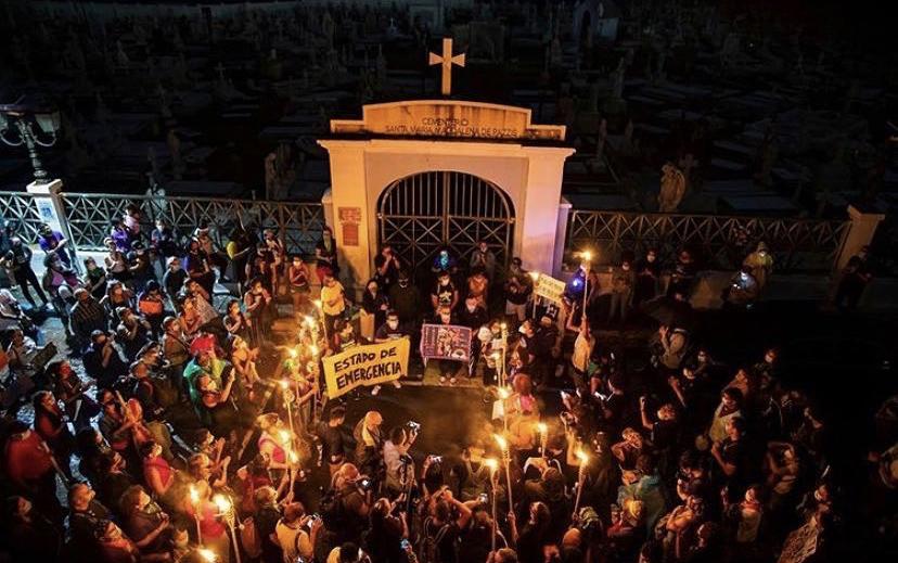 El gobernador Pedro Pierluisi de Puerto Rico anunció una orden ejecutiva para prevenir la violencia de género que estará vigente hasta el 30 de junio de 2022.  @colectivafeministapr | Instagram