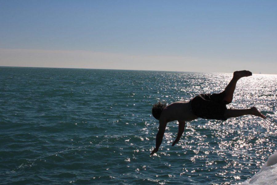 Dan+O%E2%80%99Conor+dives+into+Lake+Michigan+Feb.+26.%0A