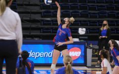 DePaul volleyball sweeps Iowa State to finish 2021 spring regular season on strong note.