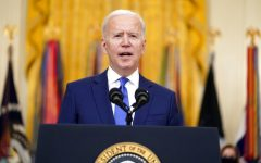 President Joe Biden speaks during an event to mark International Women's Day, Monday, March 8, 2021, in the East Room of the White House in Washington. (AP Photo/Patrick Semansky)