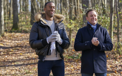 Current Bachelor Matt James and host Chris Harrison in the recent season of