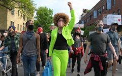 Joe Lewis (Jo Mama) marching in support of the BLM movement. .