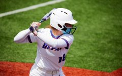 DePaul freshman Nicole Sullivan stands in the batters box during the Blue Demons' series against Creighton