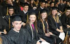 The author, second from the right, at her high school graduation.