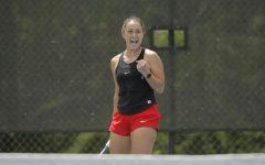 DePaul senior Marija Jovicic won her semifinals singles match on Sunday.