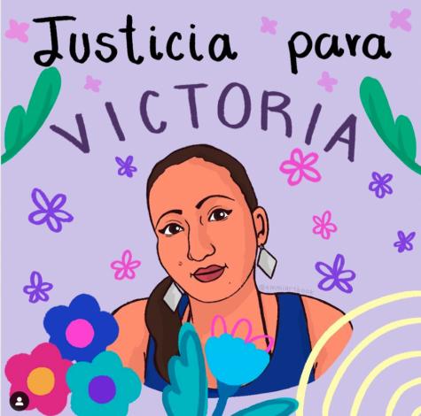 Una interpretación artística de Victoria Esperanza Salazar Arriaza, una mujer de 36 años matada por la policía mexicana.