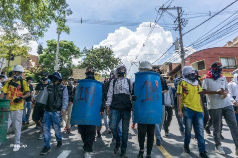 Manifestaciones en Colombia sobre el aumento de impuestos causo un paro nacional.