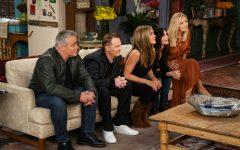 This image provided by HBO Max shows Matt LeBlanc, from left, Matthew Perry,  Jennifer Aniston, Courteney Cox and Lisa Kudrow in a scene from the