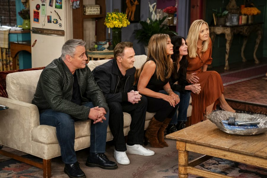 This+image+provided+by+HBO+Max+shows+Matt+LeBlanc%2C+from+left%2C+Matthew+Perry%2C++Jennifer+Aniston%2C+Courteney+Cox+and+Lisa+Kudrow+in+a+scene+from+the+%22Friends%22+reunion+special.+%28Terence+Patrick%2FHBO+Max+via+AP%29