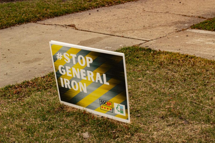 A yard sign on the Southeast side that reads