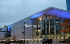 Outside of Wintrust Arena, home of the DePaul mens and womens basketball teams.