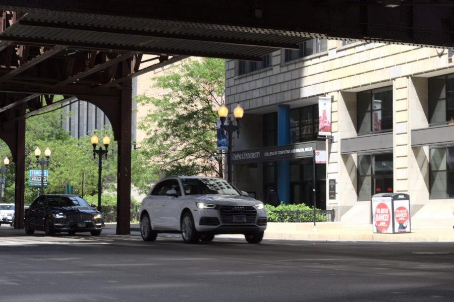A pedestrian was hit by a vehicle on the block of East Jackson Boulevard and South Wabash Avenue, near DePaul's College of Computing and Digital Media.