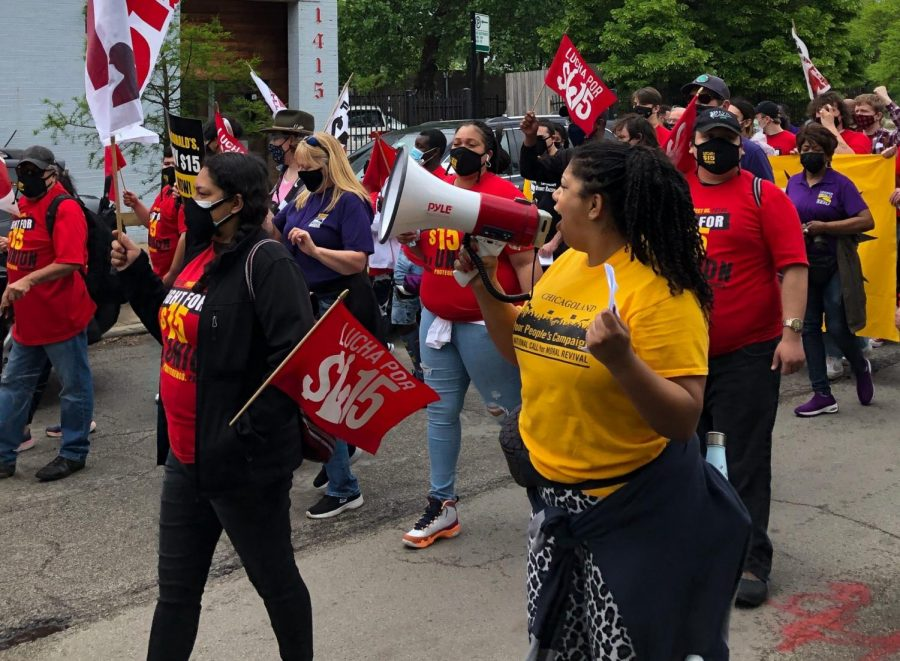 McDonald's workers in Chicago went on strike along with other workers in 15 U.S cities as part of the nationwide Fight for 15 initiative.