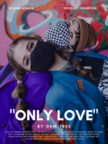 "Poster for the short film music video ""Only Love,"" directed by DePaul student Bridget Johnson."