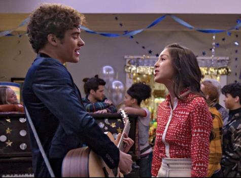 "Still of Joshua Bassett and Olivia Rodrigo in ""High School Musical: The Musical: The Series."""