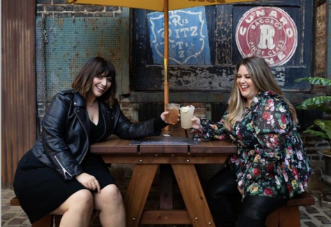 """Nicci Nunez, left, and Alex Stewart, the founders and hosts of """"Swipe Fat."""""""
