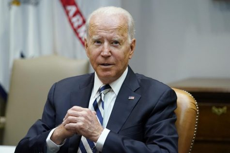 President Joe Biden speaks during a meeting with a bipartisan group of governors and mayors in the Roosevelt room of the White House in Washington, Wednesday, July 14, 2021, to discuss the bipartisan infrastructure deal in the Senate. (AP Photo/Susan Walsh)