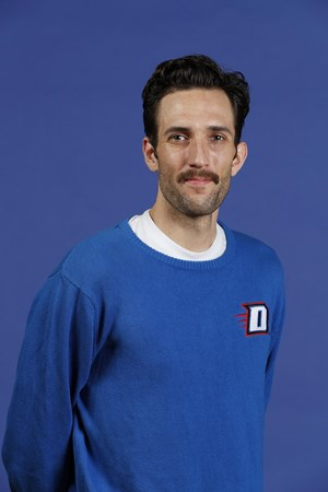 (DePaul Athletics Site) DePaul assistant Volleyball coach Nick Vogel, who will help coach the U17 and U18 athletes in Anaheim.
