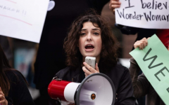 DePaul student Riley Reed taking part in pro-LGBTQ+ protest. Photo courtesy of Riley Reed
