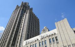 The Tribune Tower. Eric Zorn is one of several journalists who left the Tribune following its buyout.