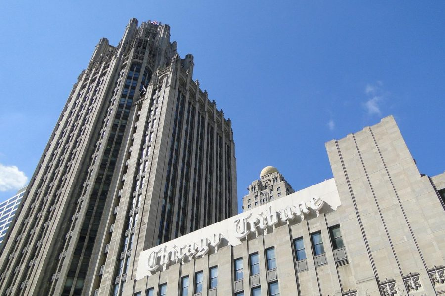 The+Tribune+Tower.+Eric+Zorn+is+one+of+several+journalists+who+left+the+Tribune+following+its+buyout.