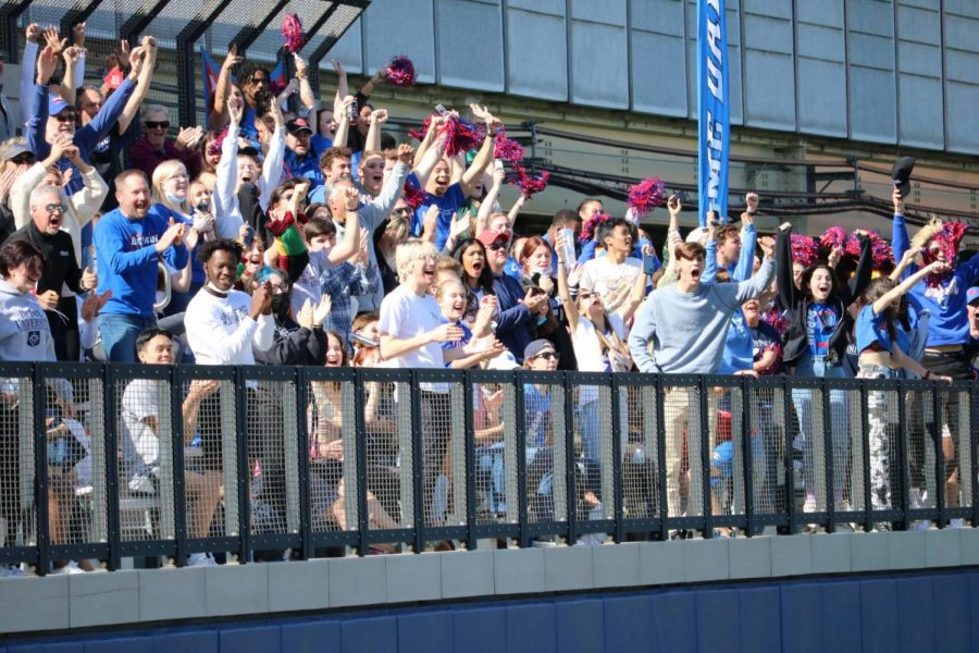 The crowd at Wish Field during the mens soccer match vs UConn.