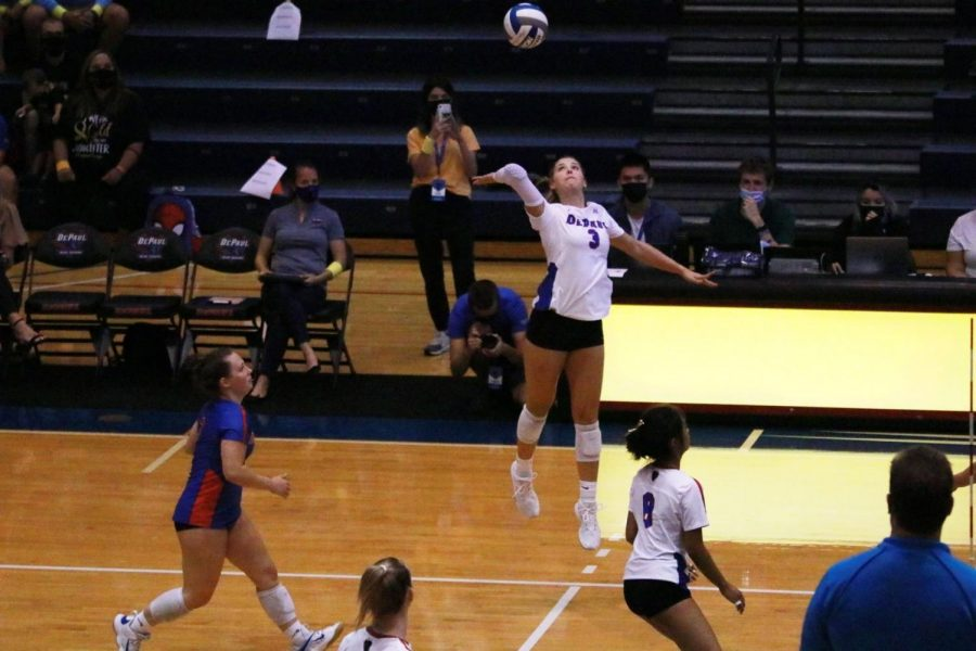 Fans welcome volleyball home at DePaul Invitational