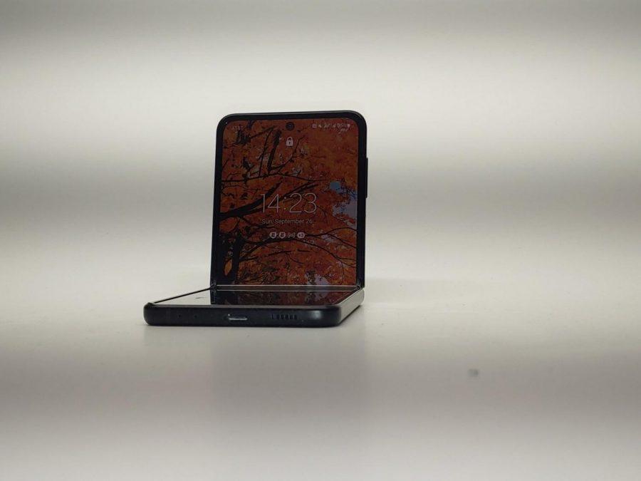 The Z Flip3 in folded mode.