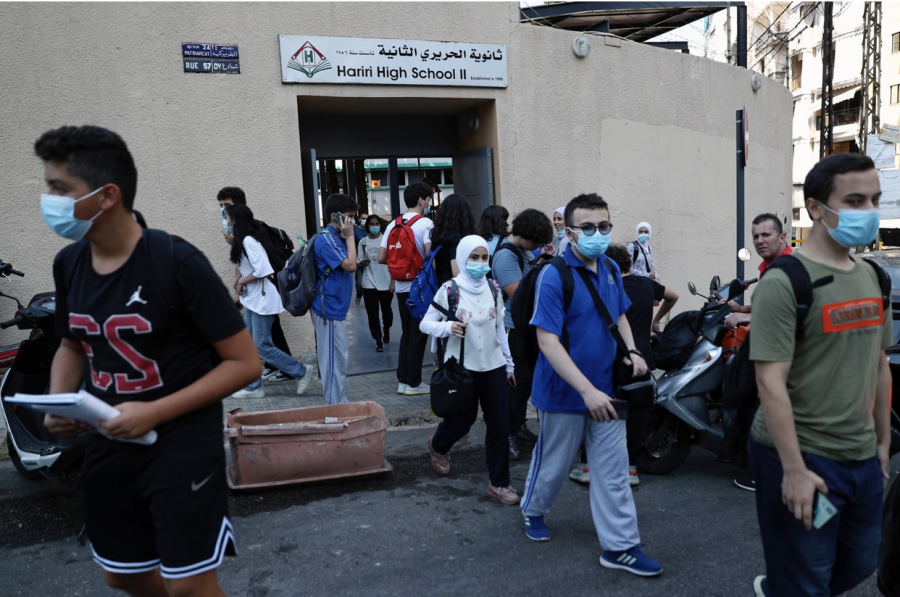 Students+leave+their+school+in+Beirut%2C+Lebanon%2C+Wednesday%2C+Sept.+29%2C+2021.+%28AP+Photo%2FBilal+Hussein%29