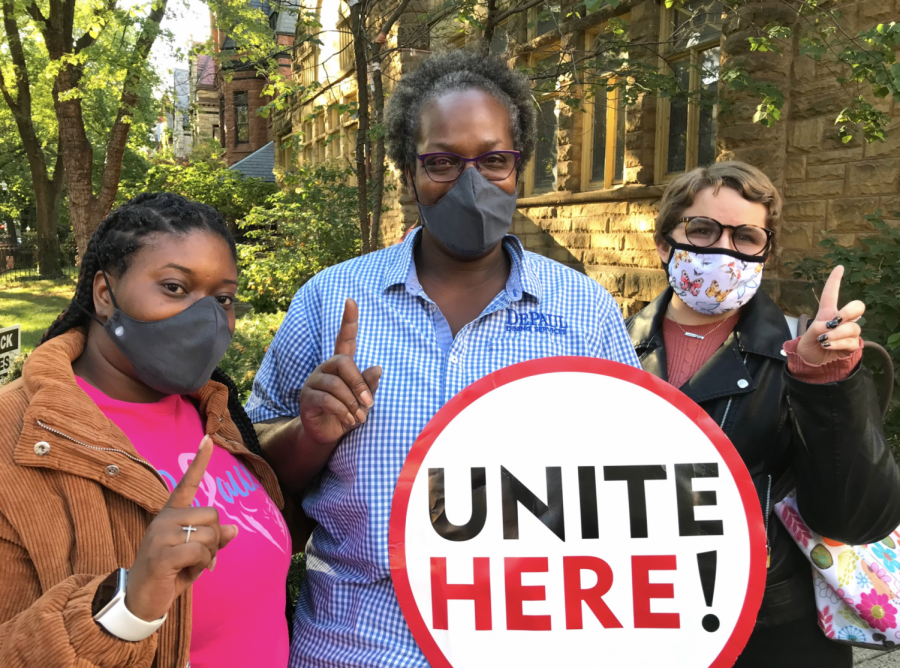 On Sept. 23, DePaul Chartwells employees voted to strike if their demands for a higher wage and better health care were not met. UNITE HERE Local 1 / Twitter