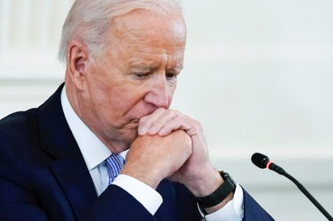 President Joe Biden listens during the Quad summit on Sept. 24, 2021 in the East Room of the White House. (AP Photo/Evan Vucci)